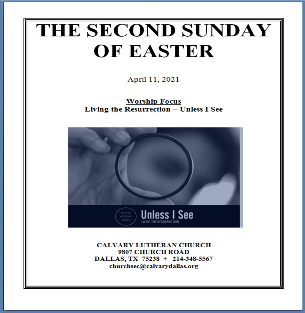 S.F.04.11.21.CS (full music and hymns) Second Sunday of Easter 2021