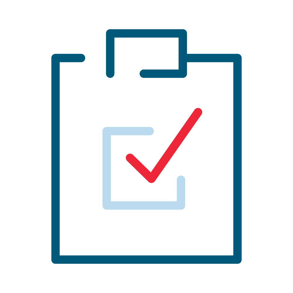Student assessment icon